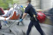 Pedestrian faces life-threatening injuries after 2-car crash