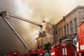 Boston blaze injures 2 firefighters!