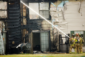 Boonton Twp Firefighter injured at condo blaze