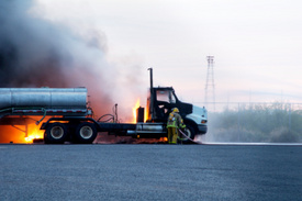 Fiery N.Y. semi truck crash killed one driver