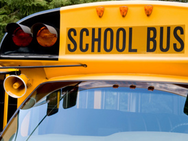 School bus struck by SUV, 2 students injured