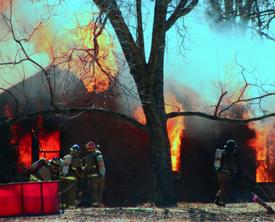 St. Michaels firefighter injured battling MD house blaze