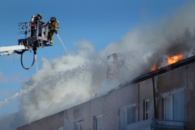 Peekskill firefighter injured combating condo blaze