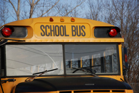 NJ school bus flipped after motor vehicle crash, 5 injured