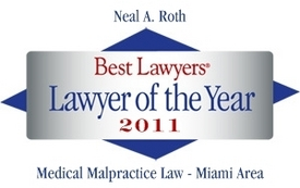 Miami-based Attorney Tapped as Area's Top Medical Malpractice Lawyer for 2011
