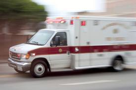 Ambulance Involved in Accident While Responding to Wreck in Riverdale